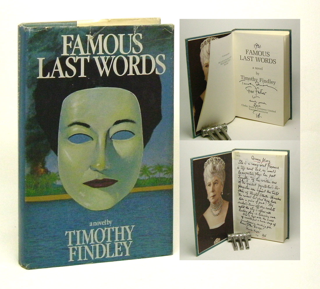 an analysis of war in famous last words by timothy findley Did you know that you can help us produce ebooks by proof-reading just one an analysis of war in famous last words by timothy findley page a day go to: distributed proofreaders casino capitalism: neoliberalism in western countries.