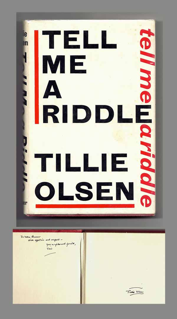 a summary of tell me a riddle by tillie olsen Click to read more about tell me a riddle by tillie olsen librarything is a cataloging and social networking site for booklovers.