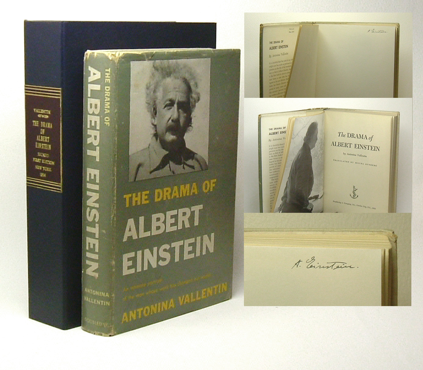 tbcl the book collector s library albert einstein relativity a einstein at the top of the verso of the frontispiece a near fine copy in like dustwrapper showing light use uncommon signed